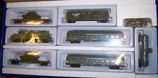 HO MILITARY US ARMY GP-20 DIESEL LOCO & 6 CARS  TRAIN SET BBM-1020 US MILITARY