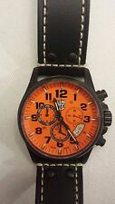 NEW Men's LUMINOX ATACAMA 1849 Chronograph Alarm 1840 SERIES Orange Black Watch