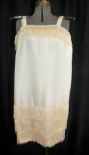 VTG 50's Flapper Dress Sundress Size XXS/XS Rayon Taffeta Metal Zipper Costume