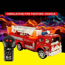 Kids Radio Remote Control RC Rescue Fire Engine Child Toy Gift Fire Ladder Truck