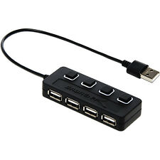 Sabrent 4-Port USB 2.0 PC & Laptop Hub w/Individual Power Switches & LED HB-UMLS