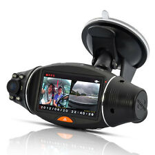 New Dual Lens Dash In Car Camera Cam Video Recorder DVR GPS Logger G-sensor R310