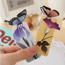 Fashion Sweet Cute Butterfly Style Paper Bookmarks Book Marks Clip Gift