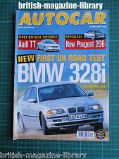 Autocar 20/5/1998 Audi TT Road Test: BMW 328i SE Lewis Hamilton, future F1 star