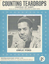 Counting Teardrops - Emile Ford - 1960 Sheet Music