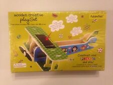 Wooden Build Plane Solar Panel. Perfect Gift For Children's Parties.