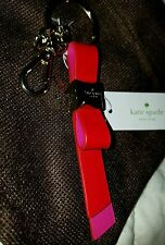NEW Kate Spade Faceted Bow Key Chain /Charm in Cherry / Pink