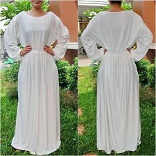NWT RoundNeck Ivory White Long Sleeve Maxi Dress Casual Cocktail Club Wear Sz XL