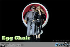 "ZY15-29 ZY Toys 12"" Action Figure 1/6 Scale Fashion White Space Egg Chair"
