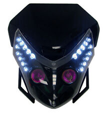 LED Head Light Dual Sport Lamp Dirt Bike For Suzuki DRZ SM Supermoto Motorcycle