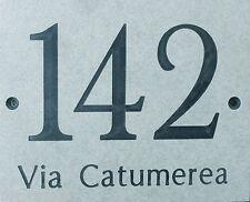 Targa numero civico 10 x 15 cm inciso simil pietra resina fenolica