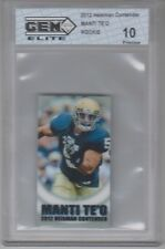 2012 Heisman Contender Manti Te'o Rookie 1 of 299 Gem Elite 10 Pristine