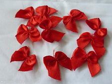 10 Streudeko Streuelemente Tischdeko  Satin Schleifen Rot 20mm