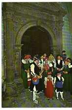 Postal Anso (Pirineo Aragonés) Traje regional típica boda.