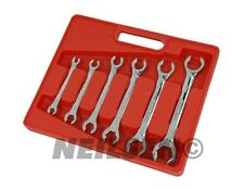 6 Pc Flare Nut Wrench Spanner Set Fuel Brake Air Conditioning Gas Pipes 6-24mm