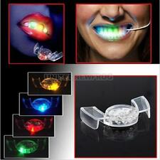 LED Flash Light Mouth Guard Piece 4 Colors Halloween Party Glowing Teeth Tooth #