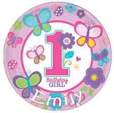 "1st Birthday Girl Personalised Cake Topper 7.5"" Edible Wafer Paper"