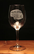 VW Volkswagen camper van type 2 engraved Wine Glass gift present