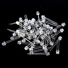 50pcs Straw Hat 5mm Clear Lens Red LED Light Emitting Diode HM
