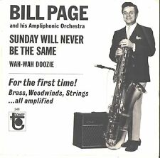 BILL PAGE--PICTURE SLEEVE ONLY on TOWER--(SUNDAY WILL NEVER BE THE SAME)--PS--