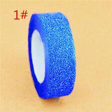 Blue Paper Adhesive Sticker Decorative DIY Craft Glitter Wash Masking Tape 10M