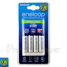 Panasonic Eneloop Advanced Charger + 4 AA Rechargeable batteries 1900mAh BQ-CC17