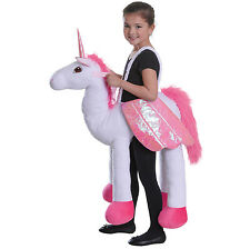 RIDING UNICORN CHILDREN STEP IN COSTUME FOR FANCY DRESS PARTY