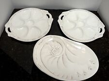 Oyster Plates & Shell Platter American Atelier White Ironstone Athena By The Sea