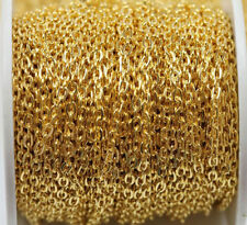 New 1/5/100M Gold/Silver Plated Cable Open Link Iron Metal 3x4mm Chain Findings