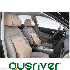 New Car Auto Seat Memory Neck Head Pillow+Lumbar Back Support Cushion over 172cm