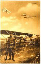 Cartolina Aviazione - Aeroplani Con Militare - Non Viaggiata