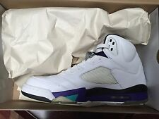 2006 Air Jordan 5 (V) Retro LS White/Emerald Green - Grape  314259-131 SZ 11