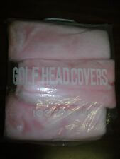 Vintage Pink All American Golf Head Covers NIP Acrylic 1 3 & X