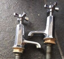 VINTAGE BRASS & CHROME PLATED BATH TAPS TWYFORDS HANLEY ART DECO 1920'S 1930'S