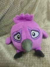 "ANGRY BIRDS RIO PLUSH Purple Caged Bird with Sound, RARE! - LICENSED 5"" NWT"