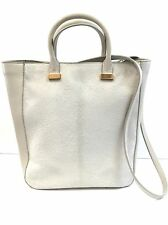 The Row Ret $5600 Netaporter Bone Pony Hair and Leather Tote Bag with Strap