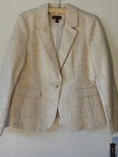 Dana Buchman New Dress Jacket Misses 14 Yellow Gold Metallic NWTag Pockets Lined
