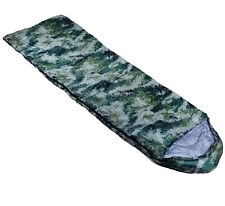 Adult Single Army Camouflage Mummy Sleeping Bag Camping 2-3 Season Summer Winter