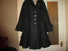 Size 14 UNWORN Black coat by MARKS & SPENCER