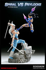 SIDESHOW X-MEN SPIRAL VS PSYLOCKE EXCLUSIVE EDITION DIORAMA BRAND NEW #341 / 350