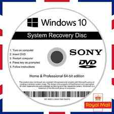 Sony Windows 10 Home & Professional Recovery Repair Install Boot Disc Software
