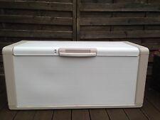 LARGE STORAGE  BOX CHEST 300L 118 x 49 X 55cm Cream