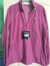 CRAGHOPPERS Ladies Pro Lite Half Zip Top In Lipstick Pink Size 20 BNWT