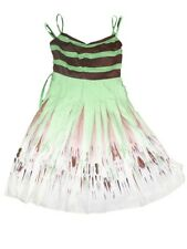 NEW Women's BCBG Max Azria Artichoke Green Dress Pleated Voile Size XS