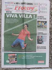 L'Equipe du 30/6/2010 - Coupe du Monde : l'Espagne bat le Portugal