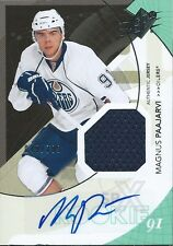 (HCW) 2010-11 SPX MAGNUS PAAJARVI Jersey Auto Rookie 49/799 Oilers RC 01646