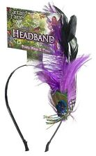 Spring Fairy Peacock Headband Pixie Purple Feather Halloween Costume Accessory