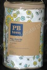 Pottery Barn Teen Flora Flower Floral Blooms Dorm Bed Sheets Set FULL New