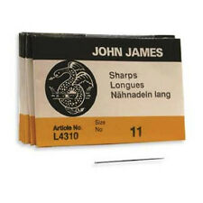25 John James Beading Needles, #11 SHARPS