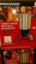 Brinkmann Propane Turkey Fryer, Outdoor Deep Cooker Kit, 815-4001-S, New